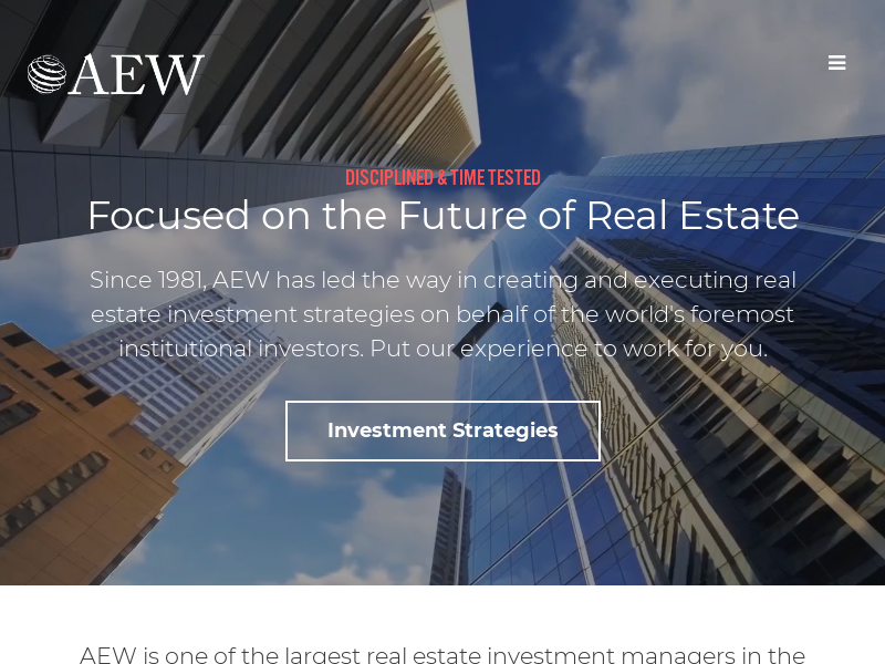 AEW Global Real Estate Investment Management Services
