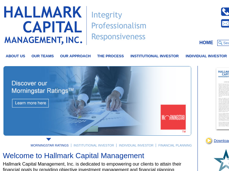 Hallmark Capital Management - Dedicated Investment Management Services
