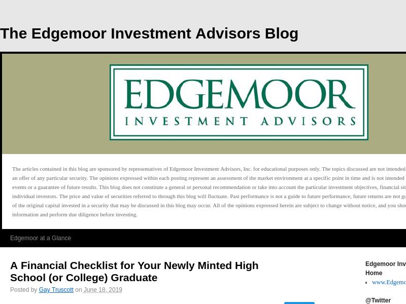 The Edgemoor Investment Advisors Blog |