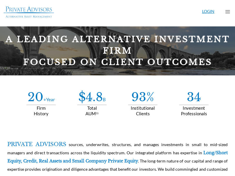 Home Page -   Private Advisors