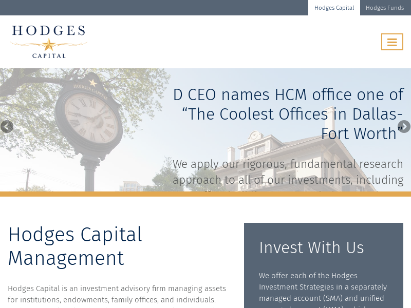 Home Page | Hodges Capital