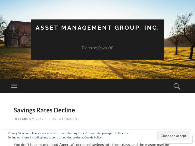 Asset Management Group, Inc.  | Planning Pays Off