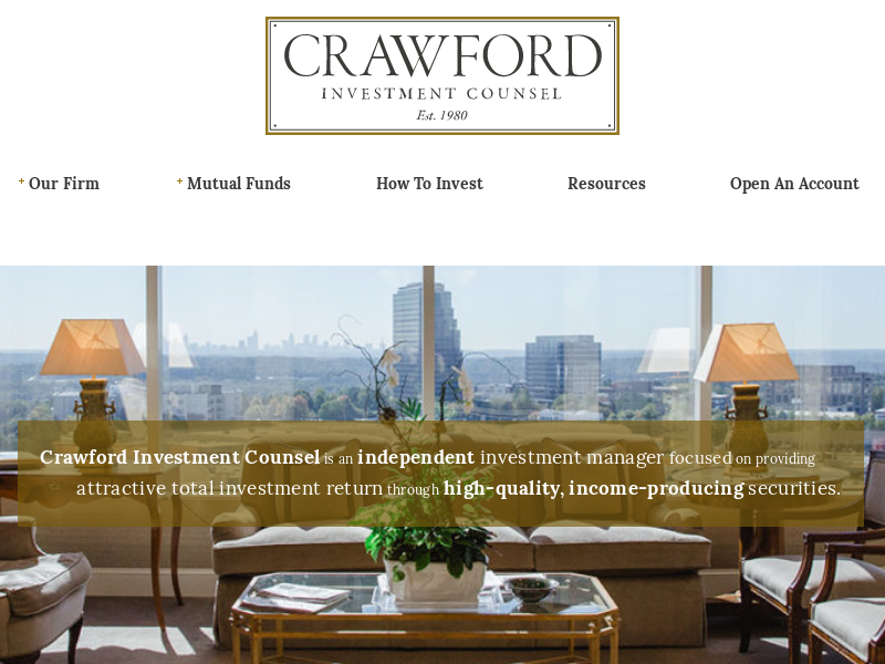 Crawford Investment Funds | Crawford Investment Counsel