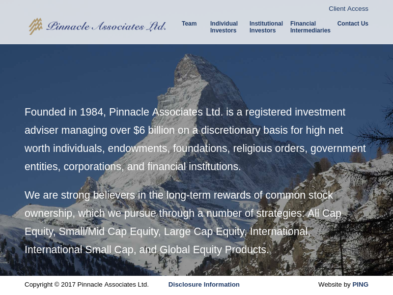 Pinnacle Associates Ltd. - Registered Investment Advisor