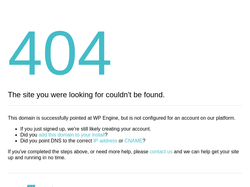 Site Not Configured | 404 Not Found