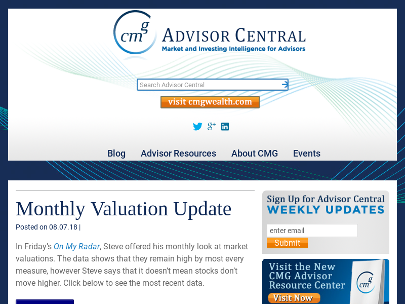 CMG AdvisorCentral - Tactical investing news, views and resources for financial advisors