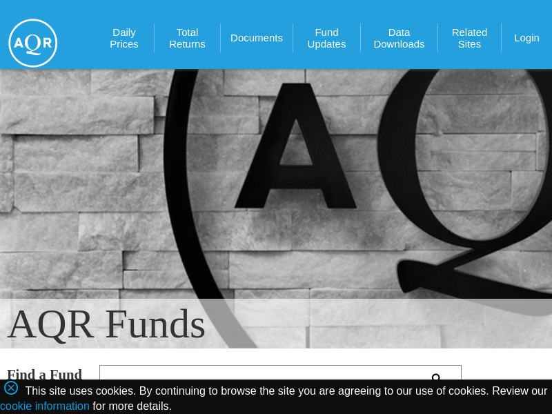 AQR - AQR Funds | Mutual Funds | Alternative Investments