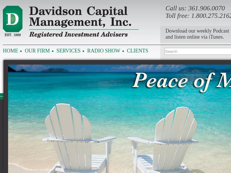 Davidson Capital Management   Texas Investment Advisors   Texas 401k Services