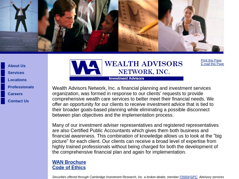 Wealth Advisors Network Home Page