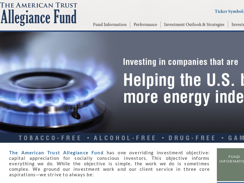 Allegiance Fund | Socially Responsible Mutual Fund - Investment