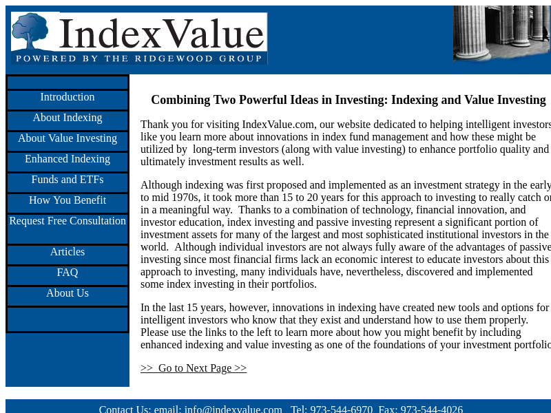 Index Fund Investing - Resources on Enhanced Indexing including DFA funds