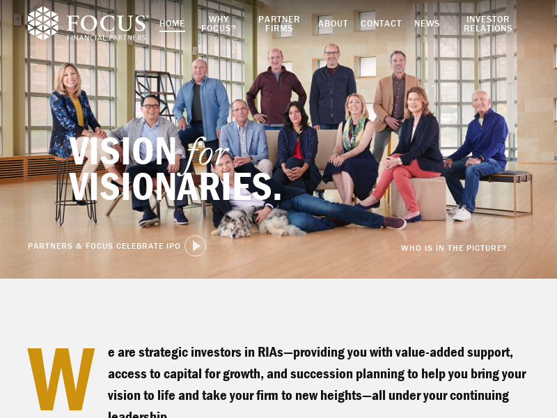 Focus Financial Partners | RIA Investors