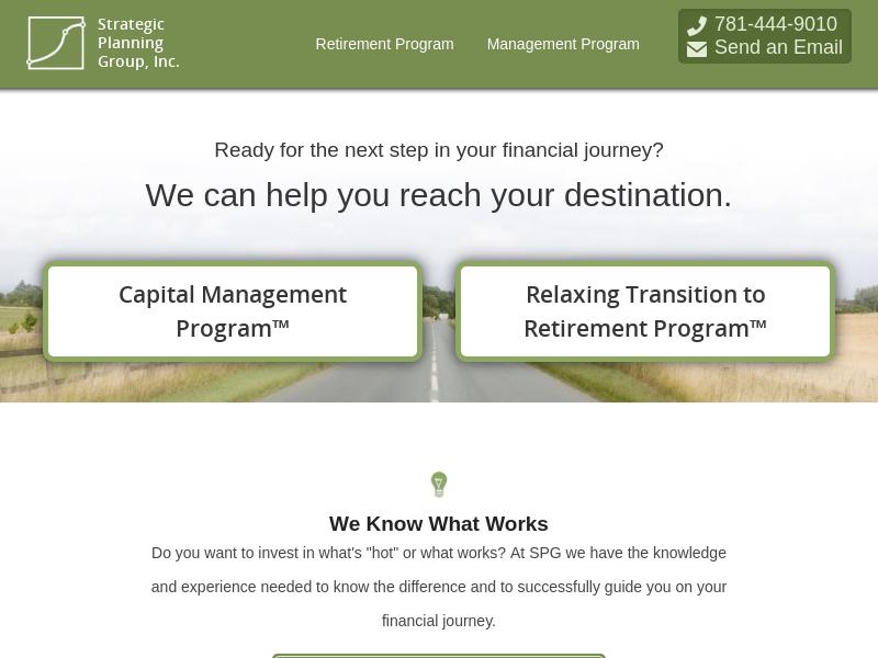 Retirement & Investment Firm, Boston MA | Strategic Planning Group, Inc.