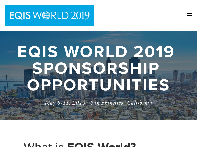 EQIS World Sponsorship