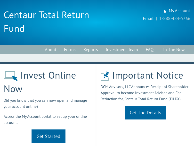 Home | Centaur Mutual Funds