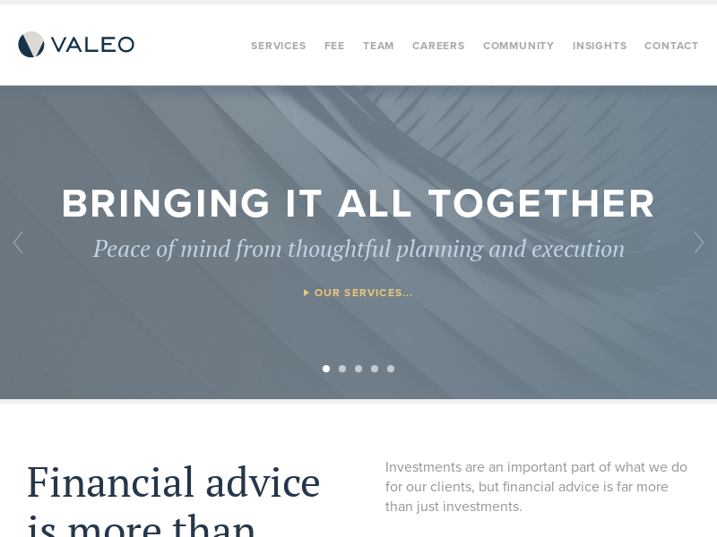 Comprehensive, Independent, Fee-only Advice and Planning - Valeo Financial Advisors