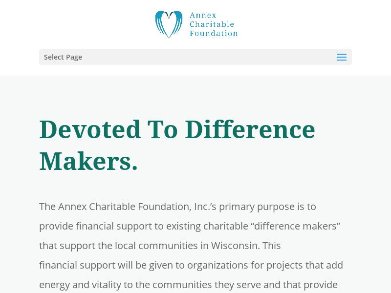Annex Charitable Foundation   The Annex Charitable Foundation is the philanthropic arm of Annex Wealth Management, LLC.