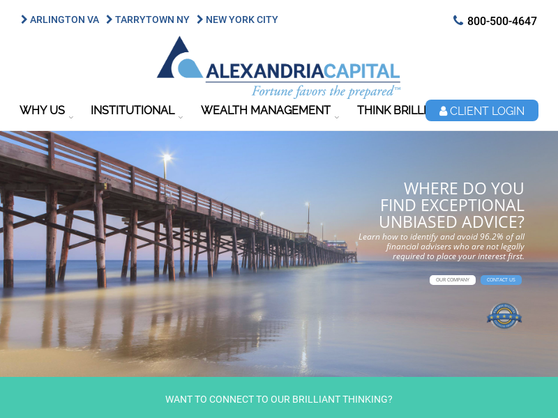 Alexandria Capital   Fortune favors the prepared