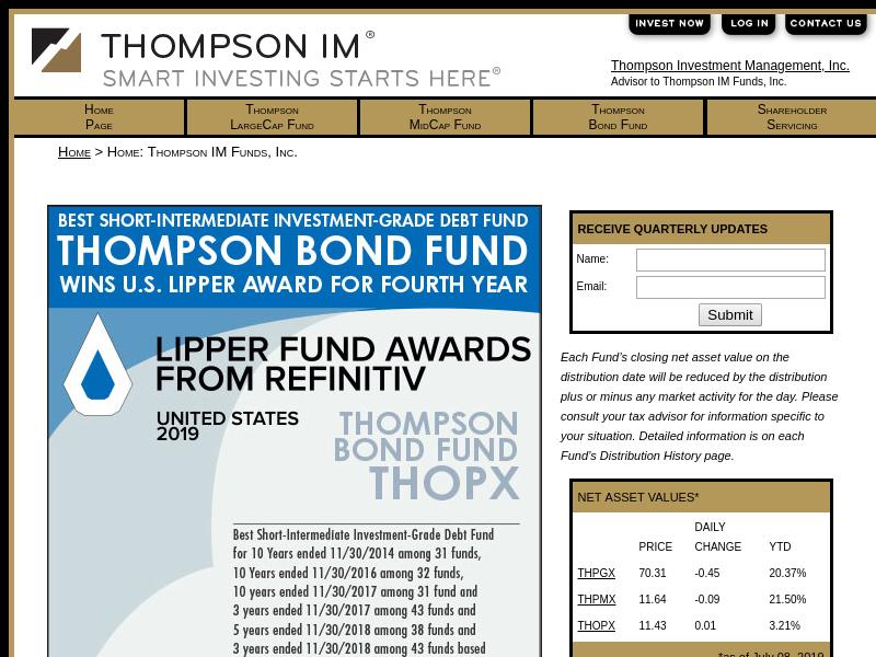 Home: Thompson IM Funds, Inc.