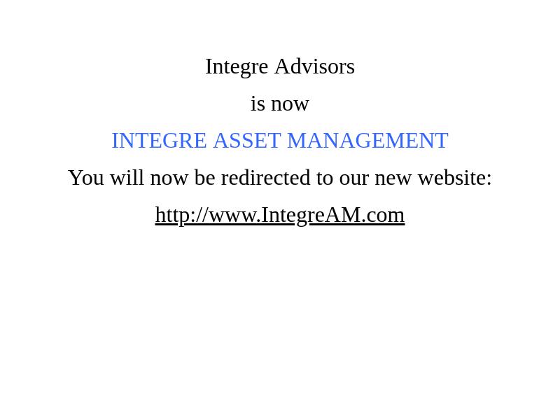 Integre Asset Management
