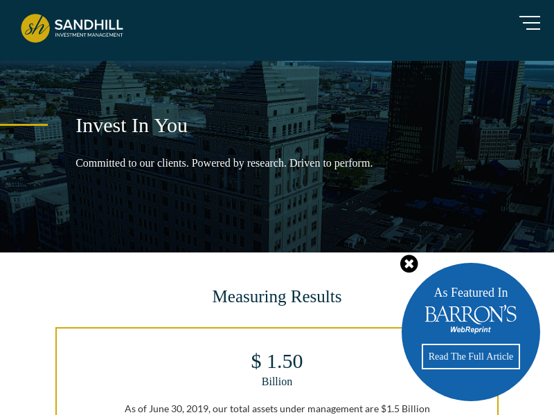 Wealth Management | Sandhill Investment Management in Buffalo, NY