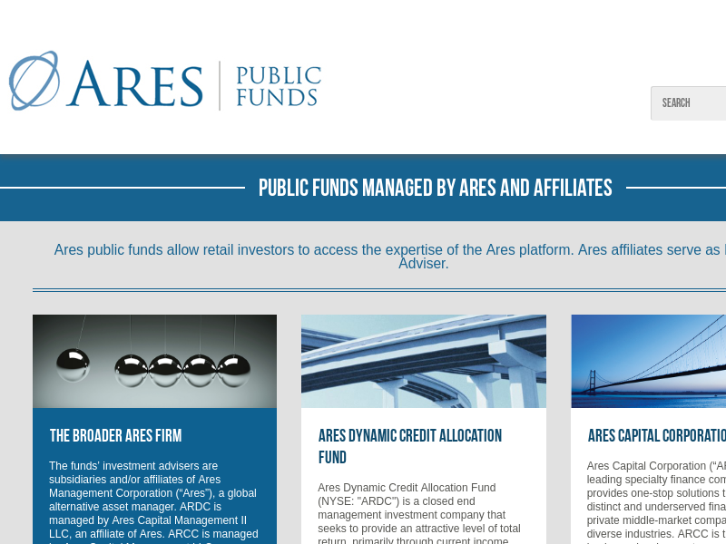 Ares Public Funds :: Home