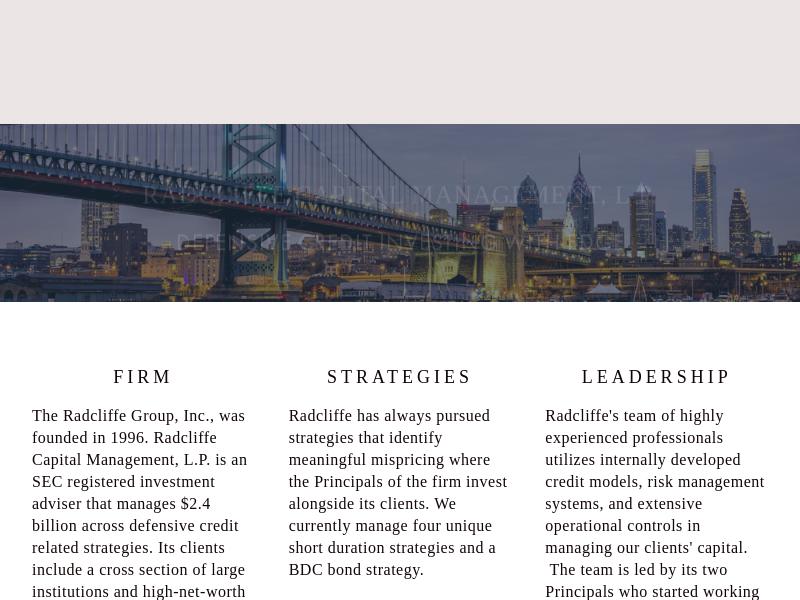 Radcliffe Capital Management