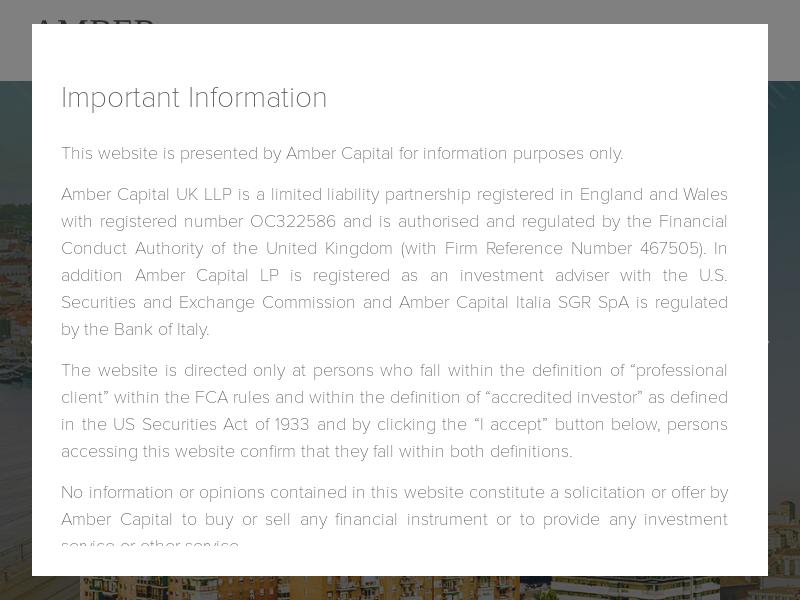 Amber Capital - Welcome