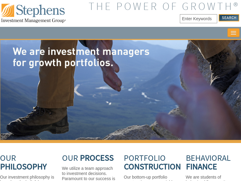 Home | Stephens Investment Management Group