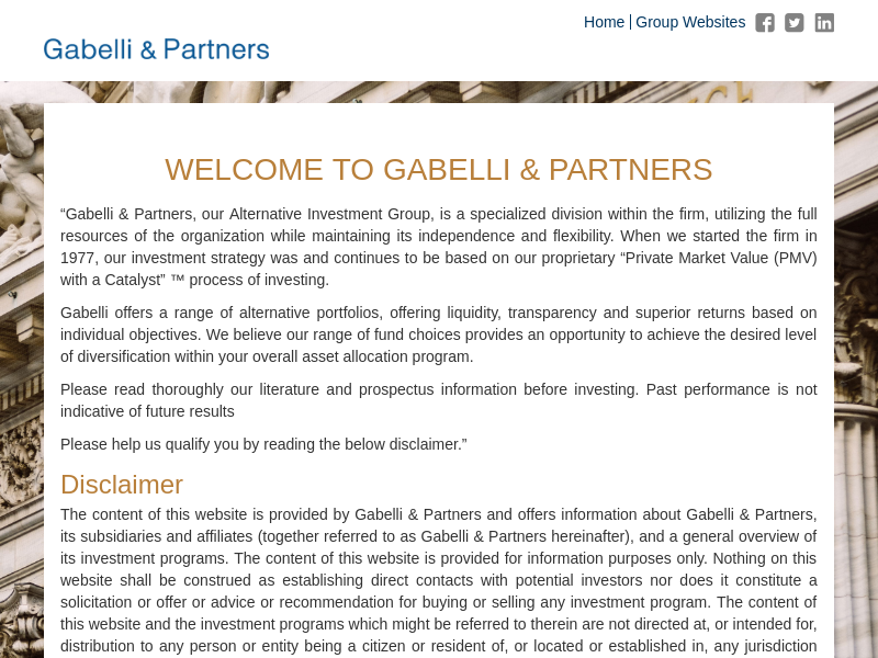 Gabelli & Partners | ALTERNATIVE INVESTMENTS