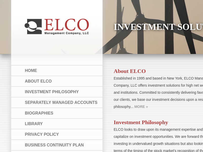 ELCO Management Company, LLC. Investment Solutions