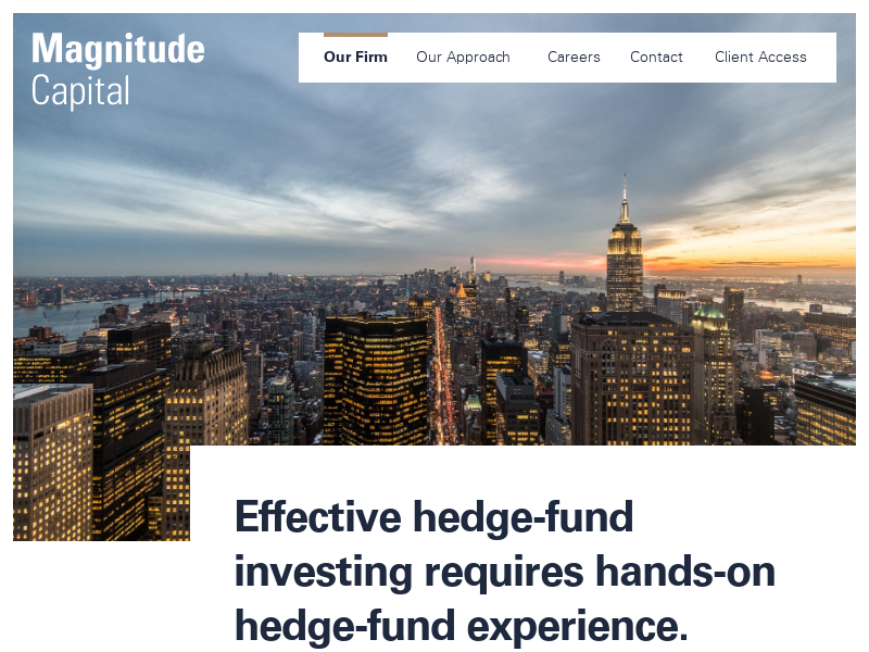 Our Firm - Magnitude Capital