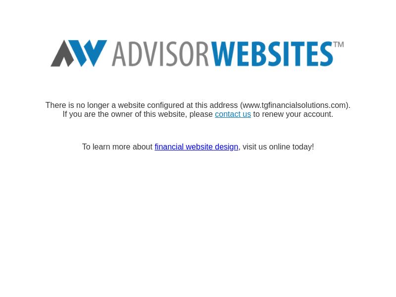403 Error (Forbidden) | Advisor Websites