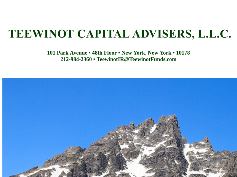 Teewinot Capital Advisers, LLC