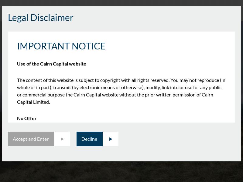 Cairn Capital Credit Asset Management Advisory