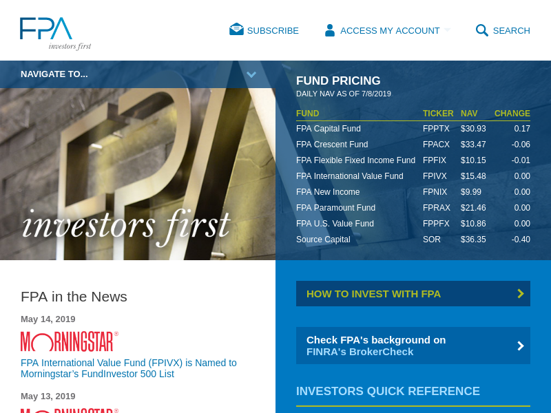 Investors First | Investment Management from First Pacific Advisors