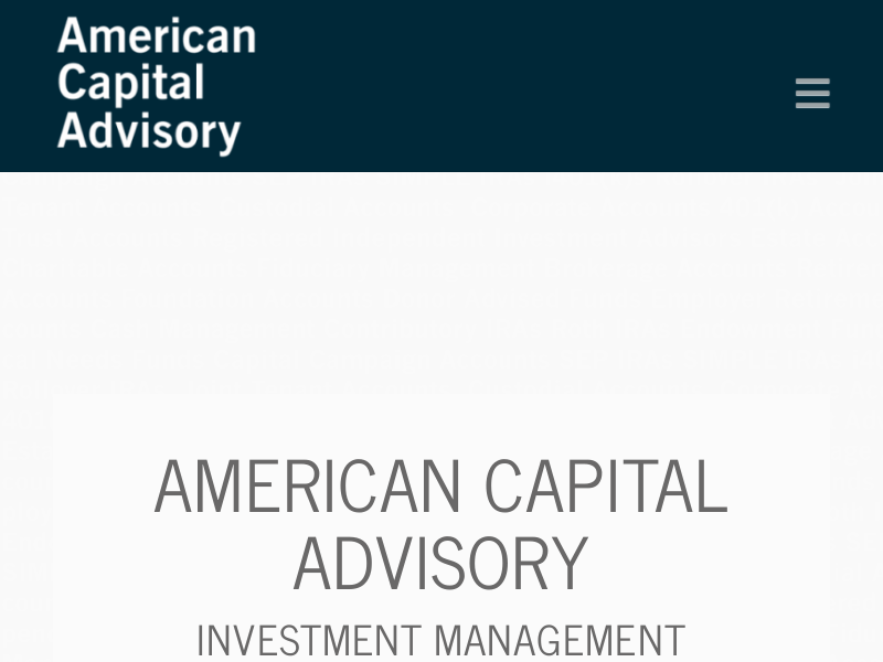 Home | American Capital Advisory