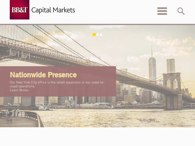Capital Markets   Investment Banking, Corporate Banking, Research, Sales & Trading   BB&T Capital Markets
